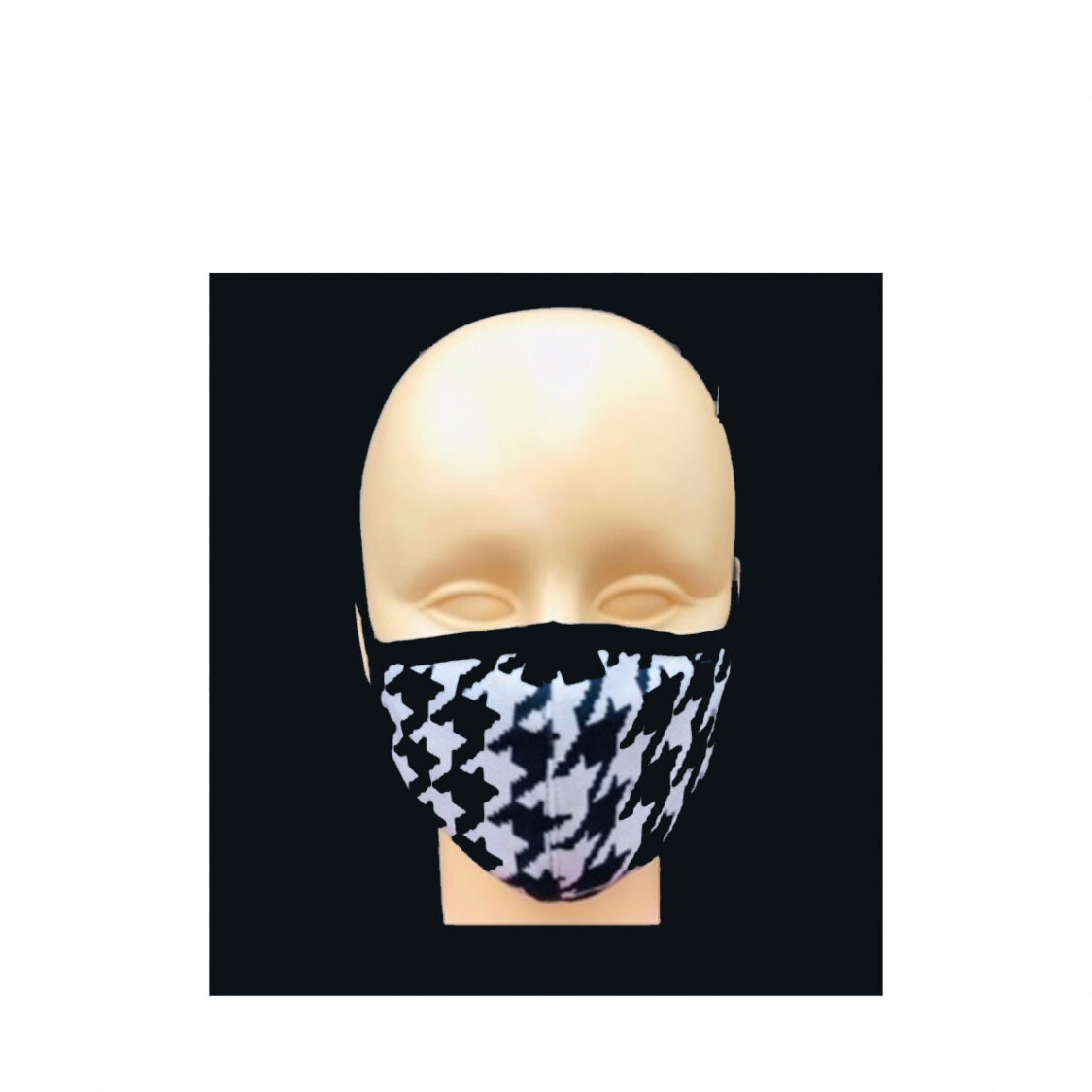 Vermogen Reversible Fashion Kids Mask HoundstoothBlack S FMC037