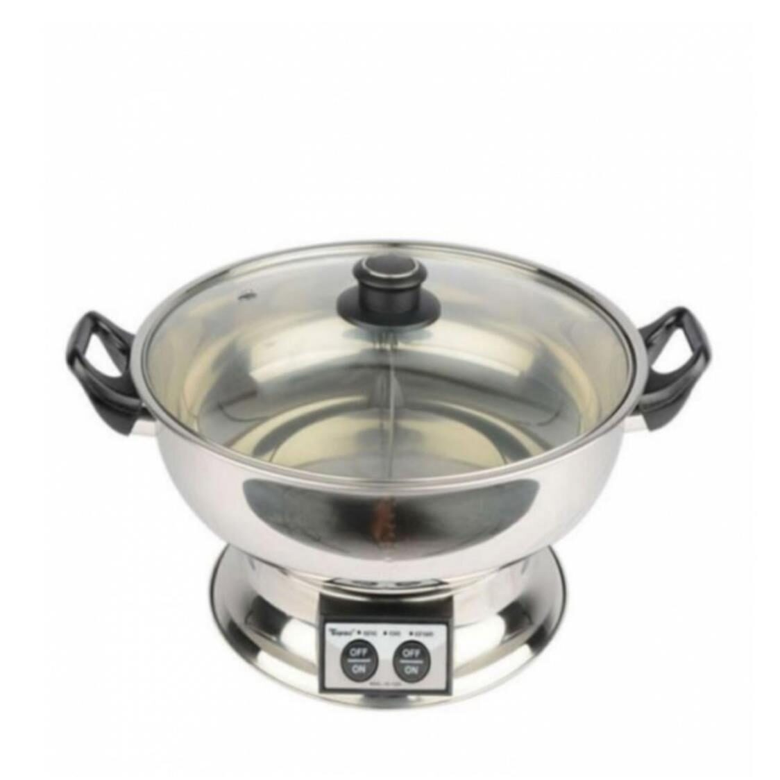 Toyomi HS172DV Stainless Steel Steamboat with Divider 58L