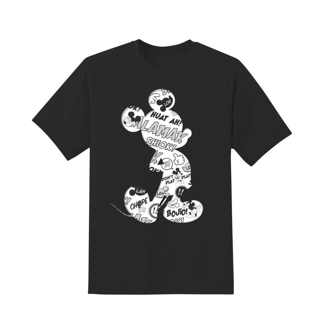 Mickey Silhouette T-Shirt Black