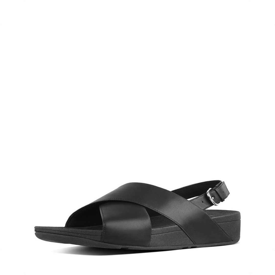 Fitflop Lulu Leather Cross Back-Strap Sandals - Leather Black