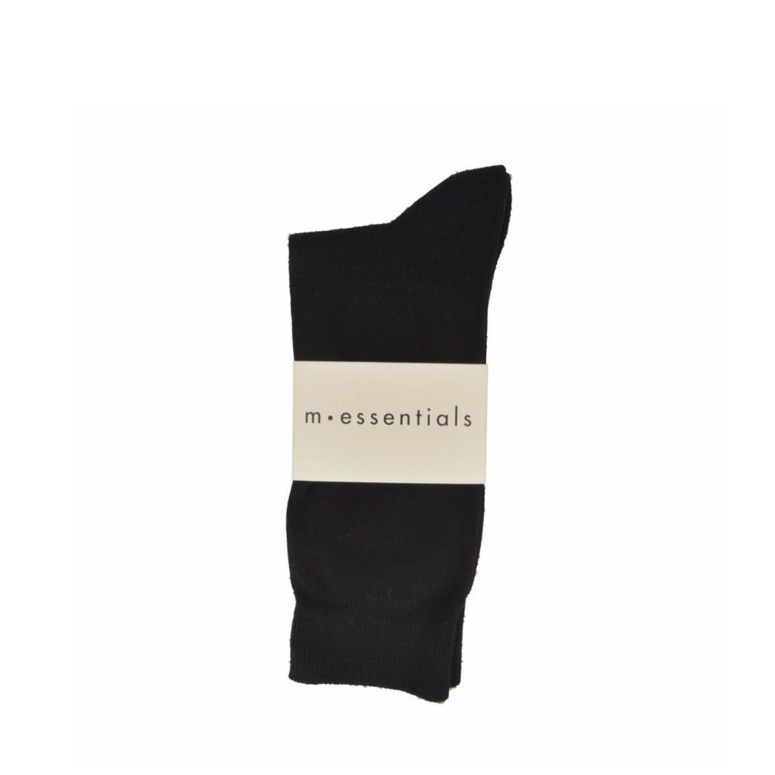 Mens Plain Cotton Socks In Solid Black