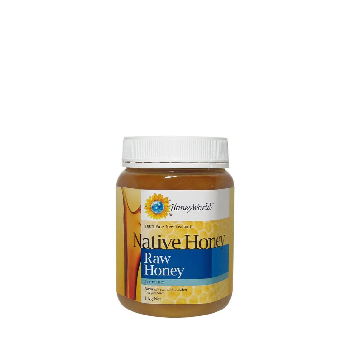Honey World Raw Honey Enriched with Bee Pollen  Propolis 1 kg