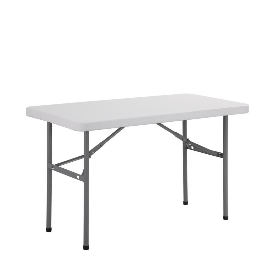 4ft Rectangle Table with HDPE Table Top and Powder-coated Steel Frame