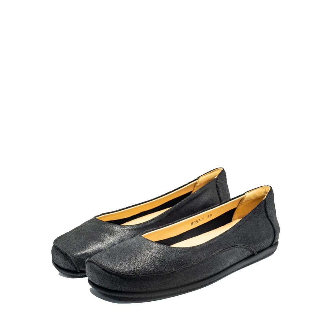 Barani 8957-1 Leather PumpsBallet Flats Black