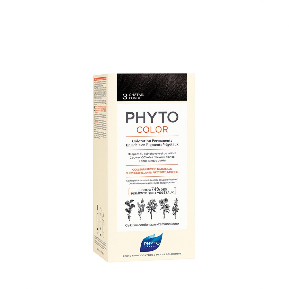 Phytocolor 3 Dark Brown Col Cr 50ml  Lot 50ml PH10017A99926