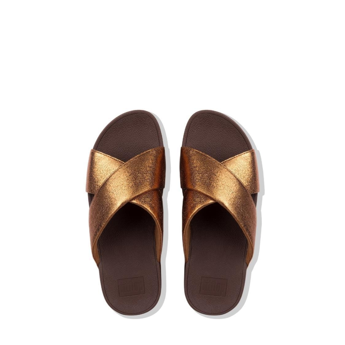 Lulu Molten Metal Cross Slides Bronze