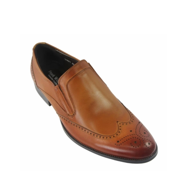 FRANK WILLIAMS Men Wingtip Slip-Ons in Brown
