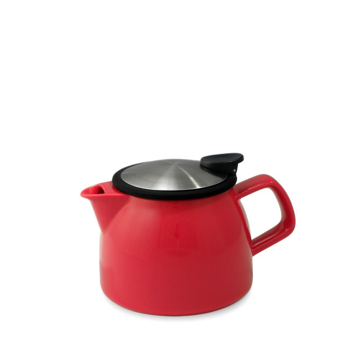 Bell Teapot with Basket Infuser 470ml FL543-RED