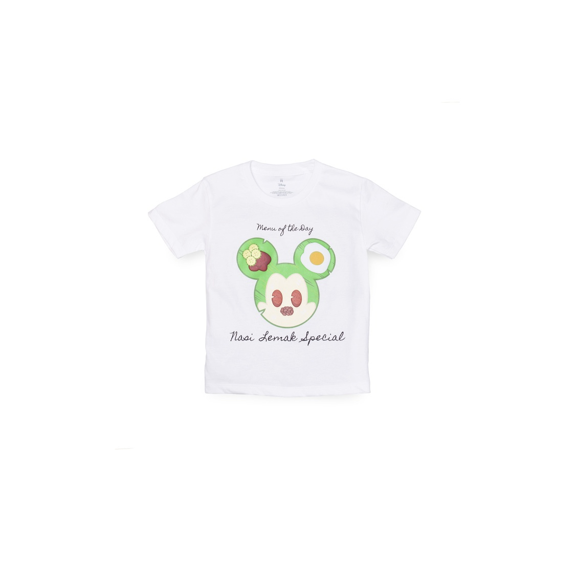 Mickey Nasi Lemak T-Shirt White- Kids