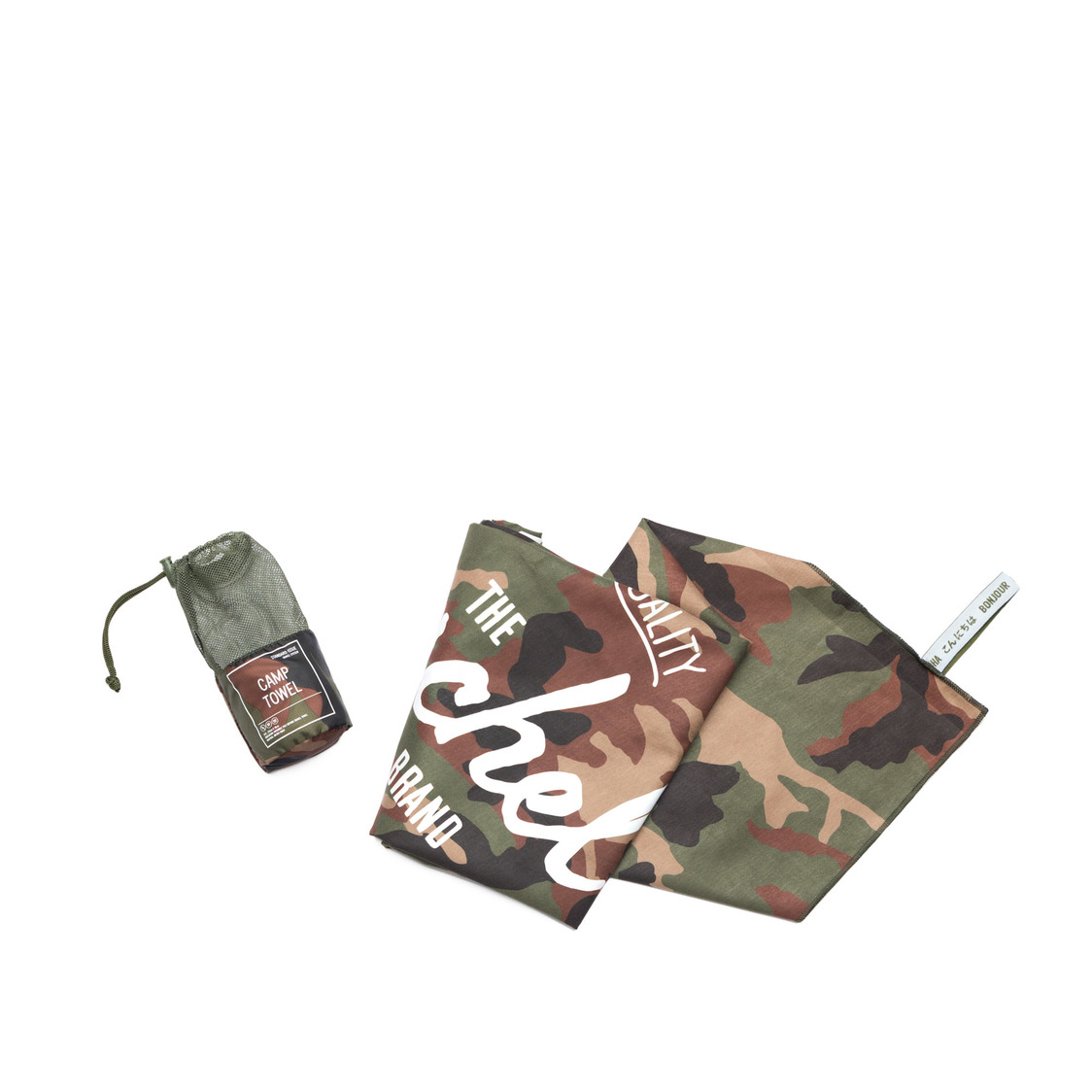 Camp Towel Woodland Camo 10540-02507-OS