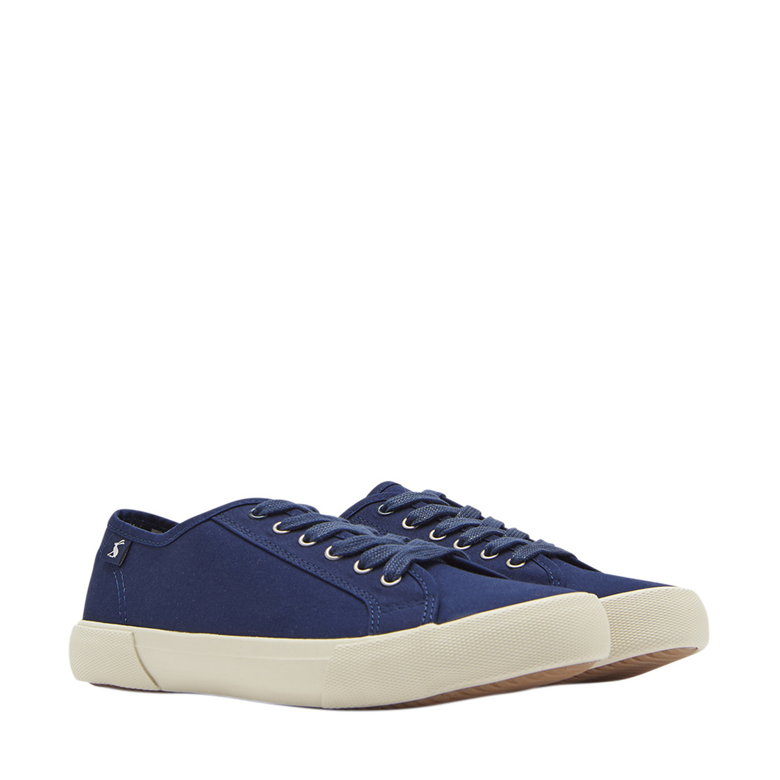 Coast Pump Canvas Lace Up Sneakers French Navy