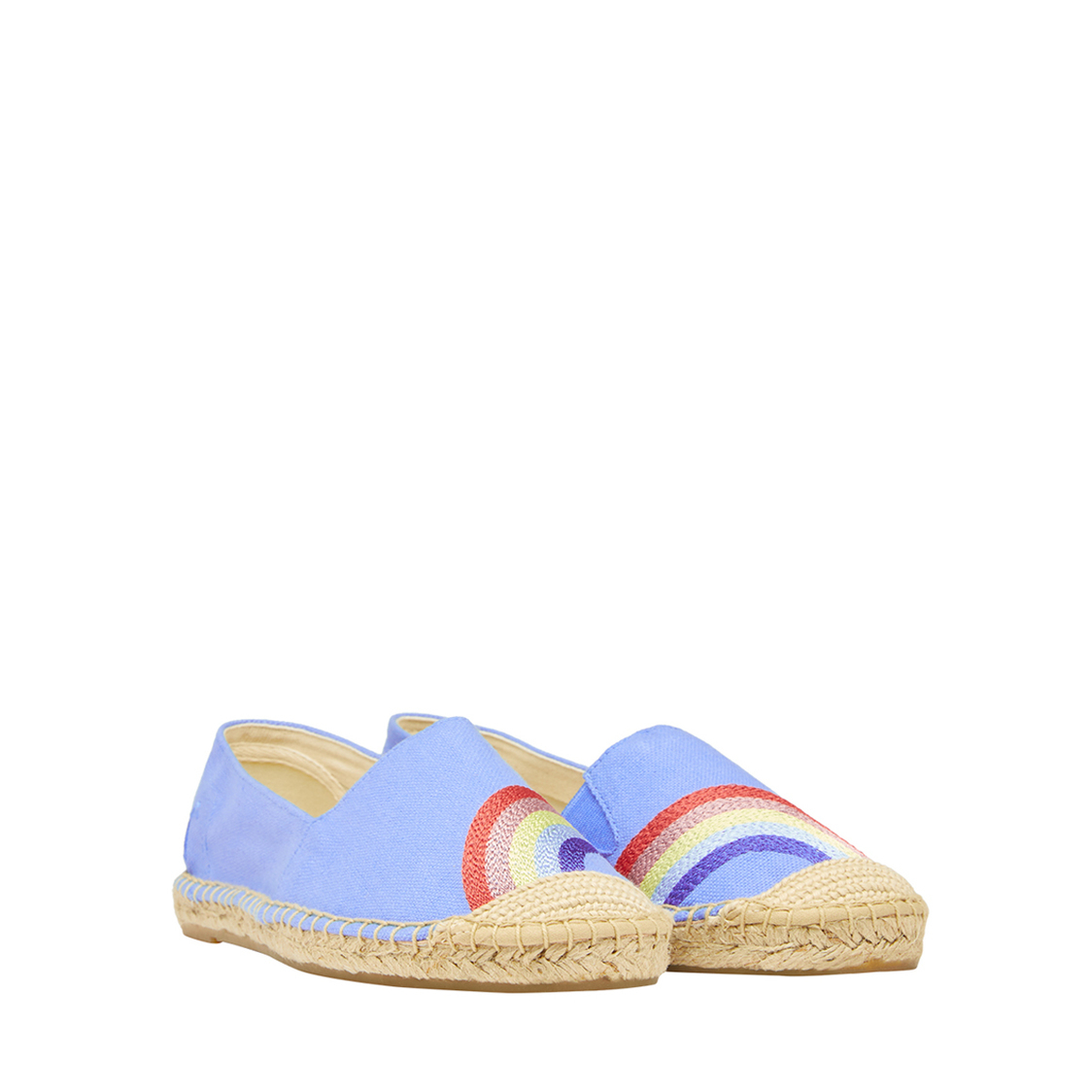 Tom Joule Shelbury Embroidered Espadrilles Blue