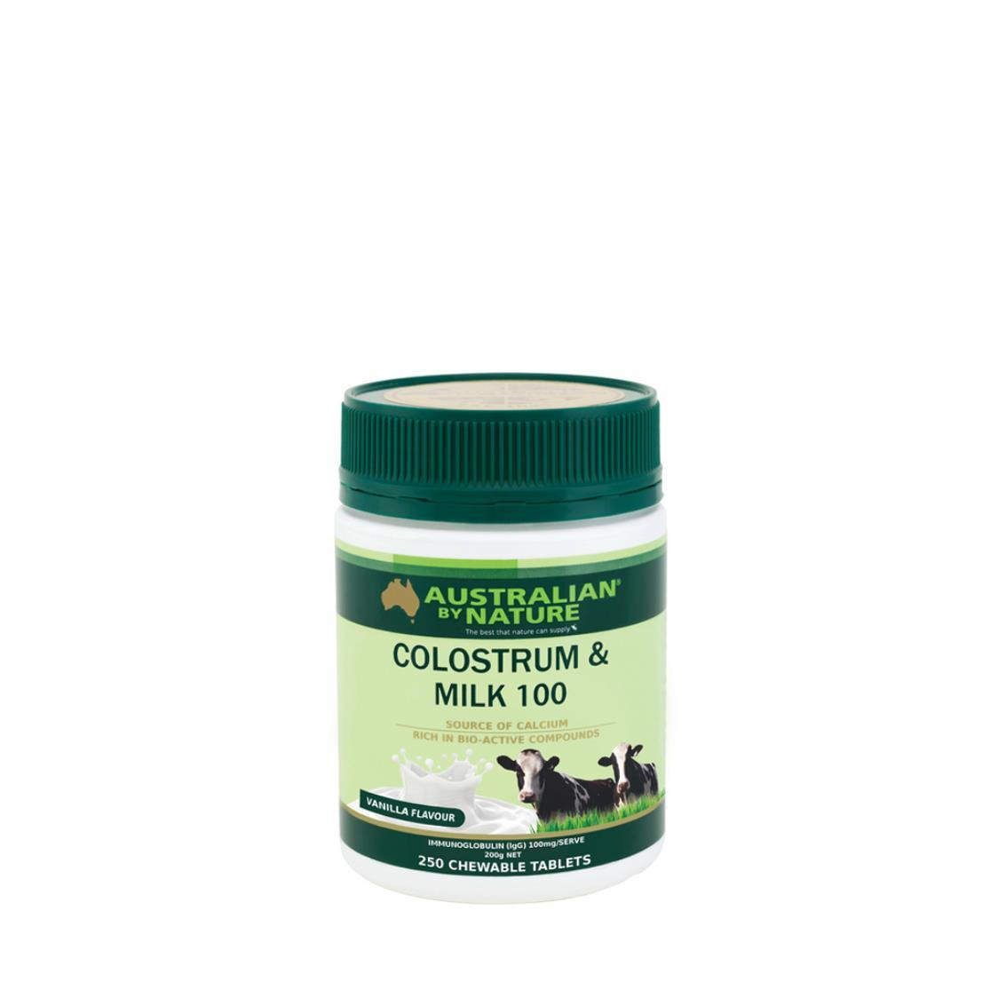 Australian By Nature Colostrum Milk 850mg Vanilla Flavour 50Igg 250 Tablets
