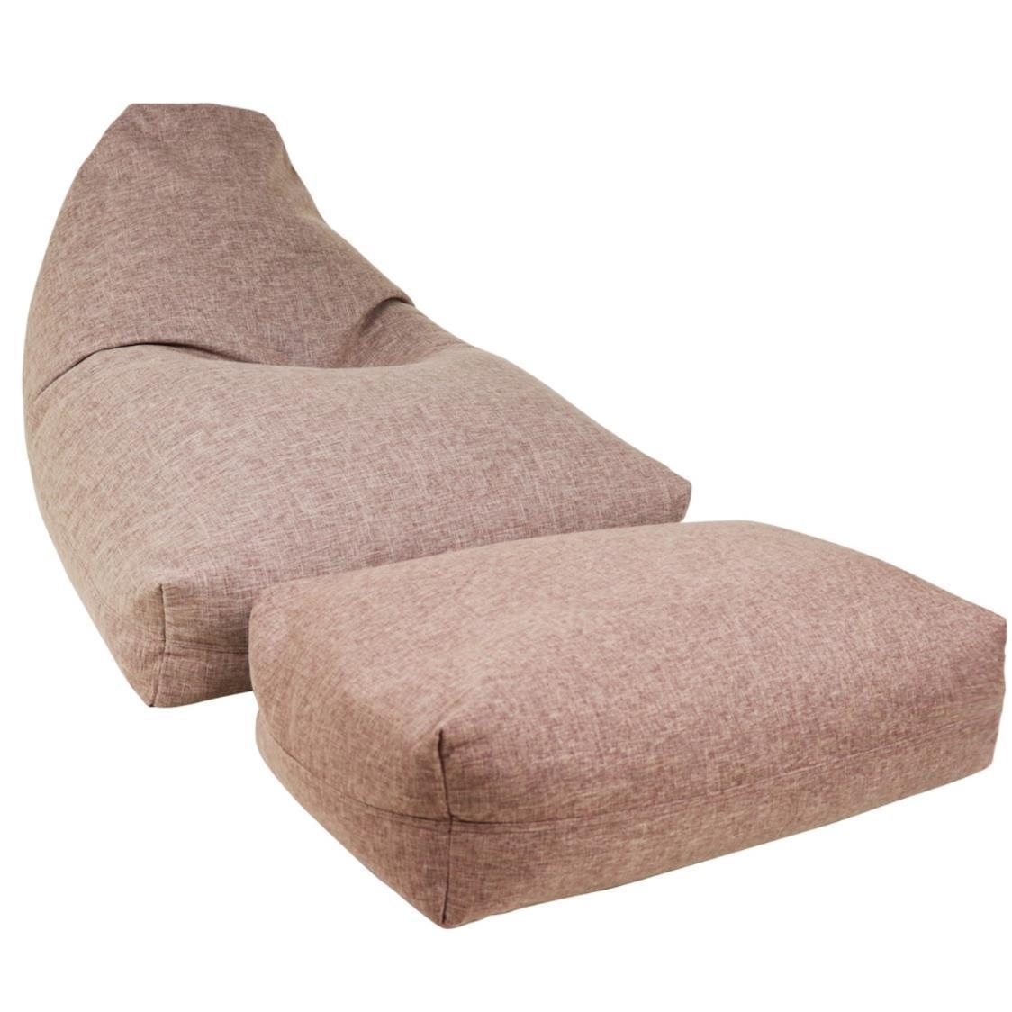 Moby Bean Bag  Ottoman in Brown