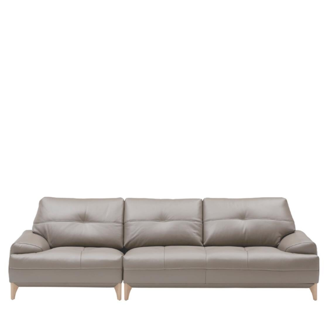Boston Leather Sofa For 4  L390 Nude