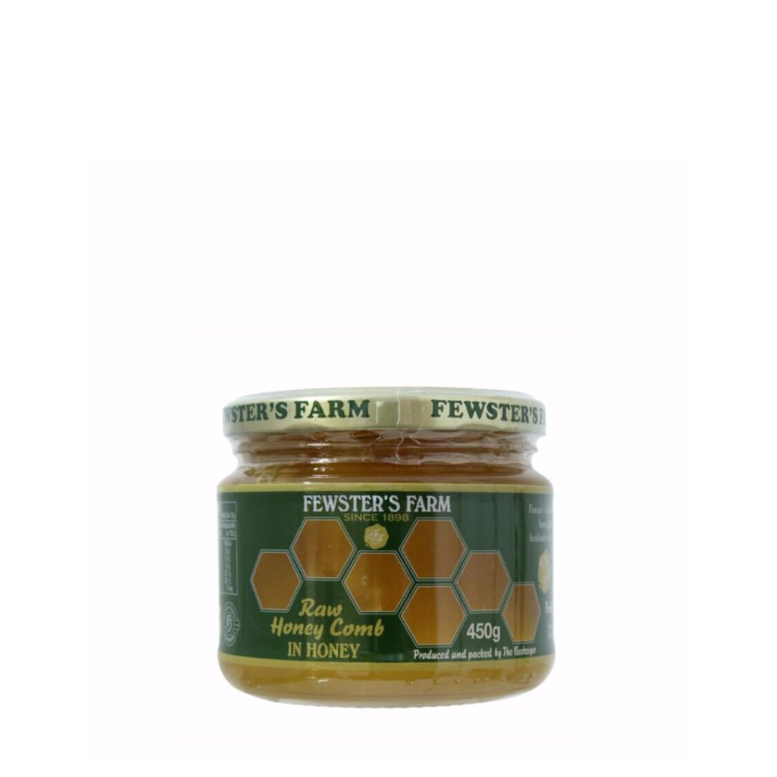 Organic Raw Honey Comb In Honey TA 25 450g