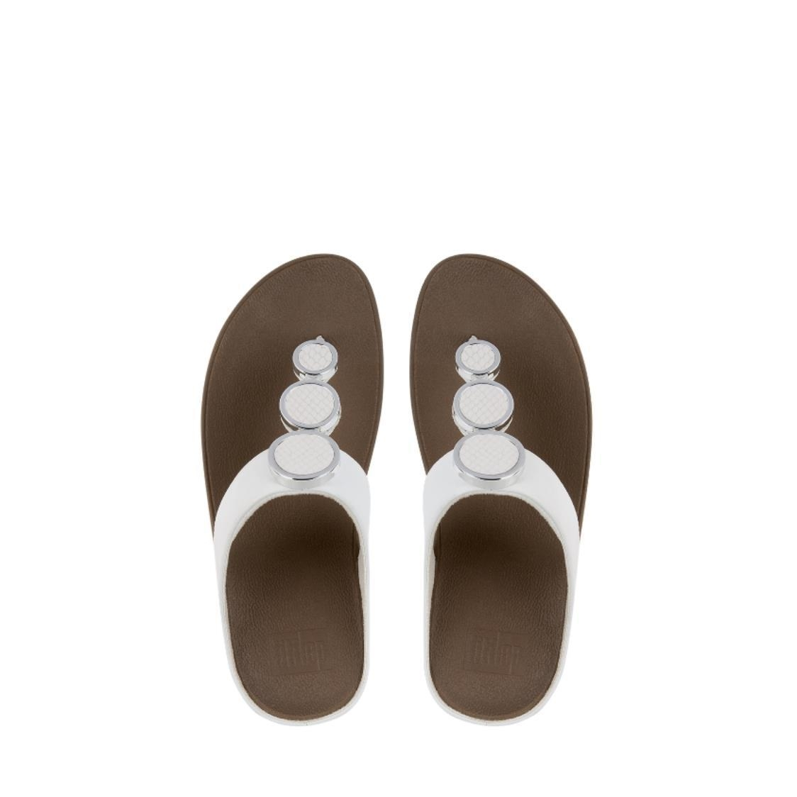 Halo Leather Toe-Thong Sandals Urban White