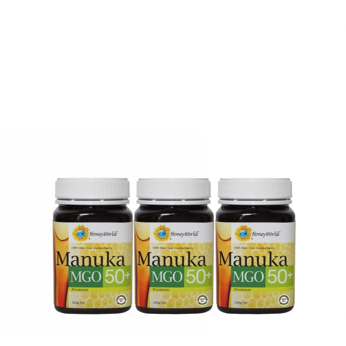 Honey World Manuka MGO50 500g Bundle of 3