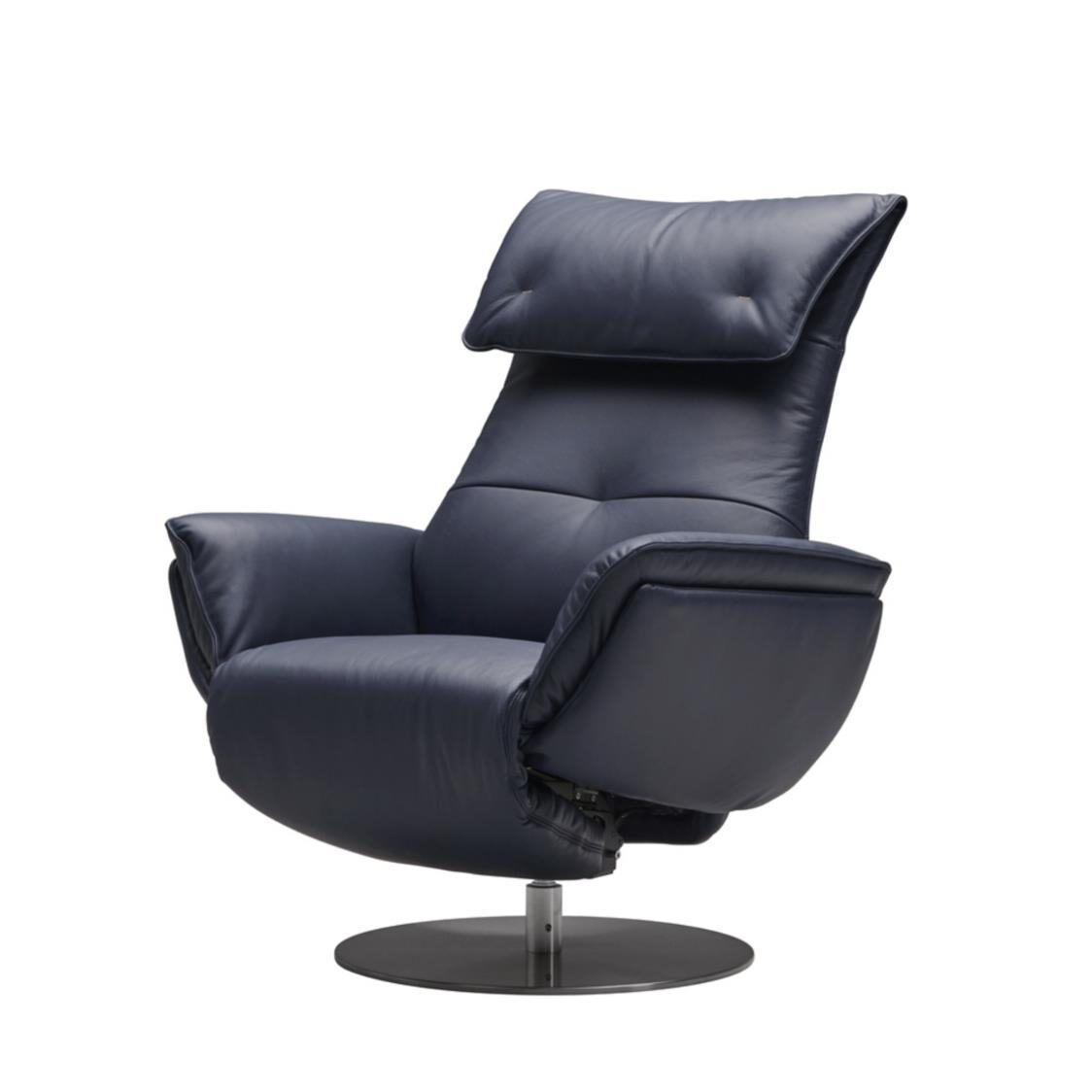 Wolke Chair - Full Leather L664A Denim