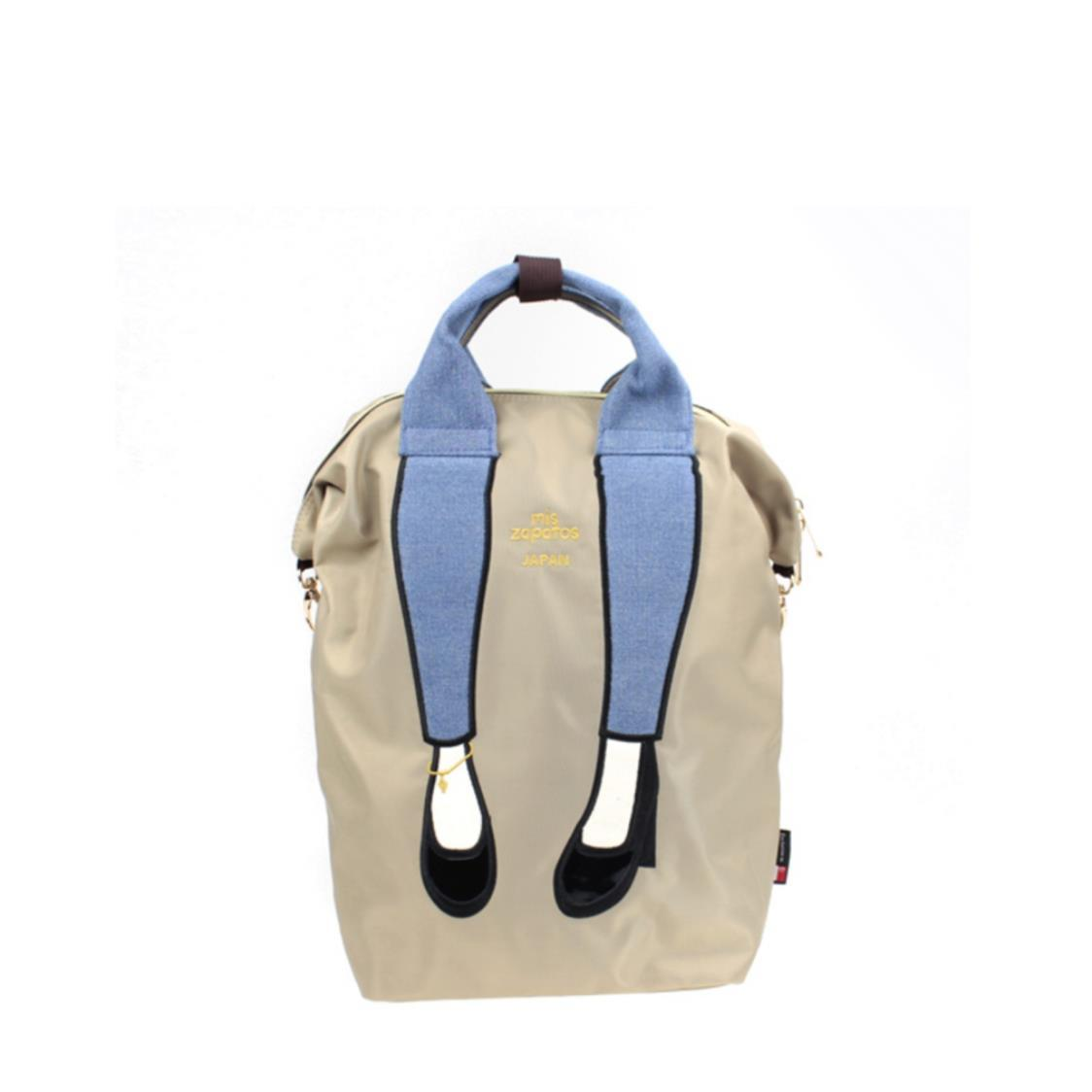 3-Way Jeans with High Heels Backpack Exclusive In Singapore Beige