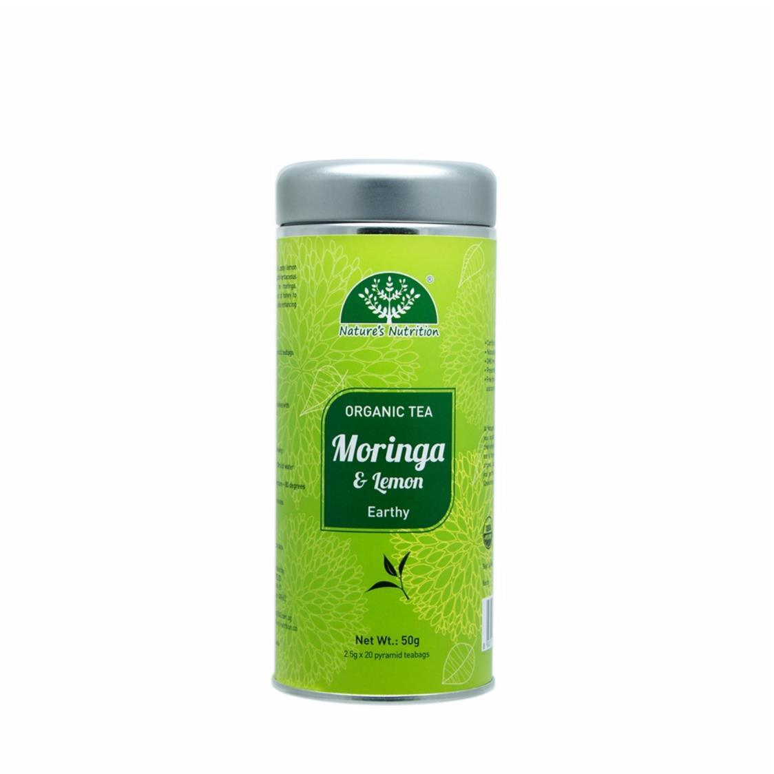 Organic Moringa Tea with Lemon Cannister