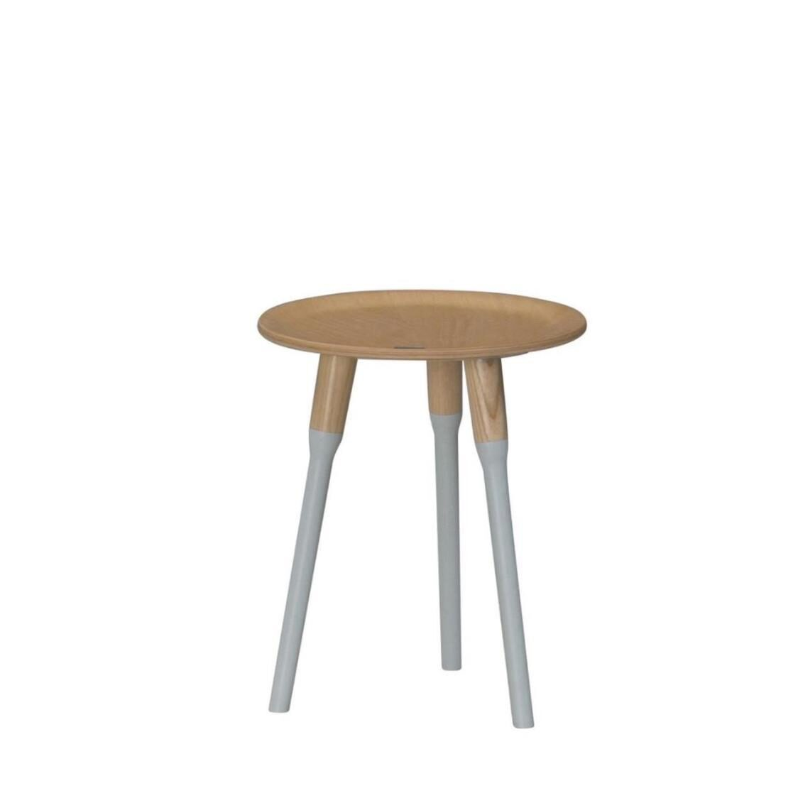 Miel Gallery Round Side Table Small BWBG Beech Wood Beige