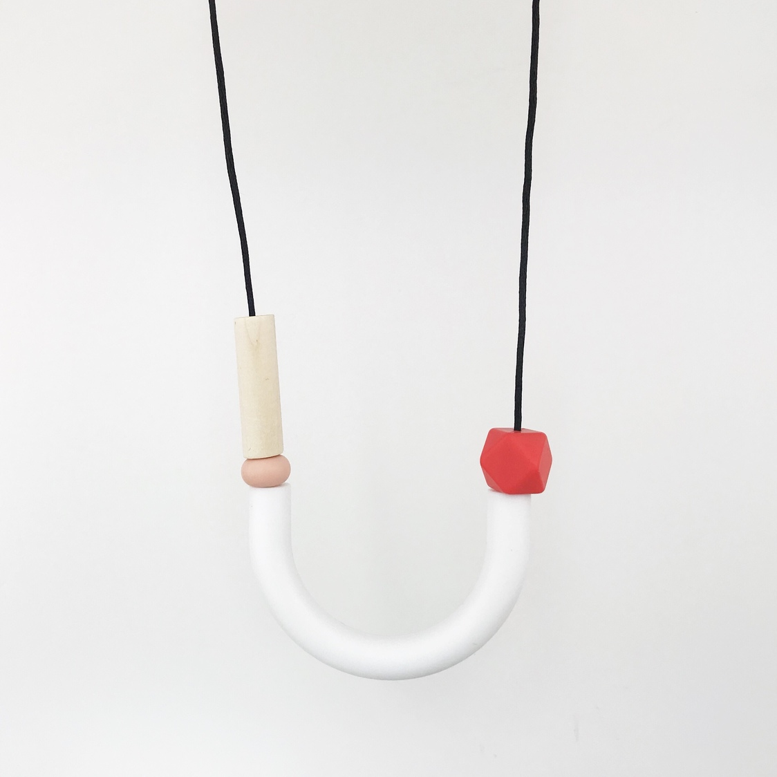 Hook Necklace - Ruby