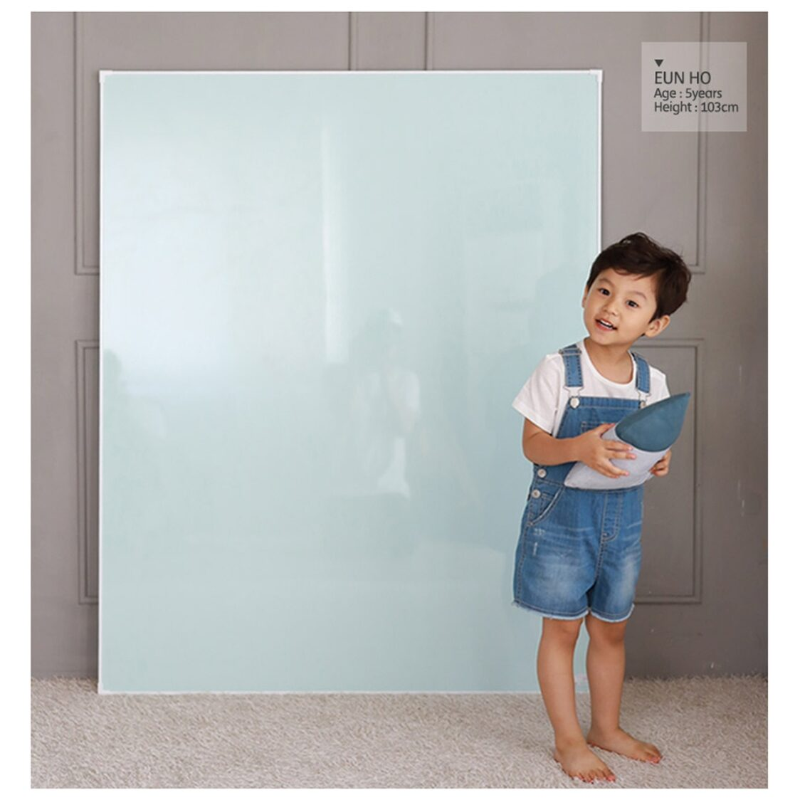 Premium Magnetic Board - Jeje Square L - Mint