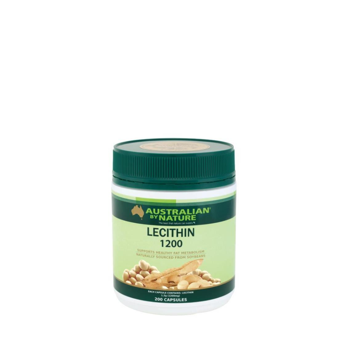 Australian By Nature Lecithin 1200mg 200 Capsules