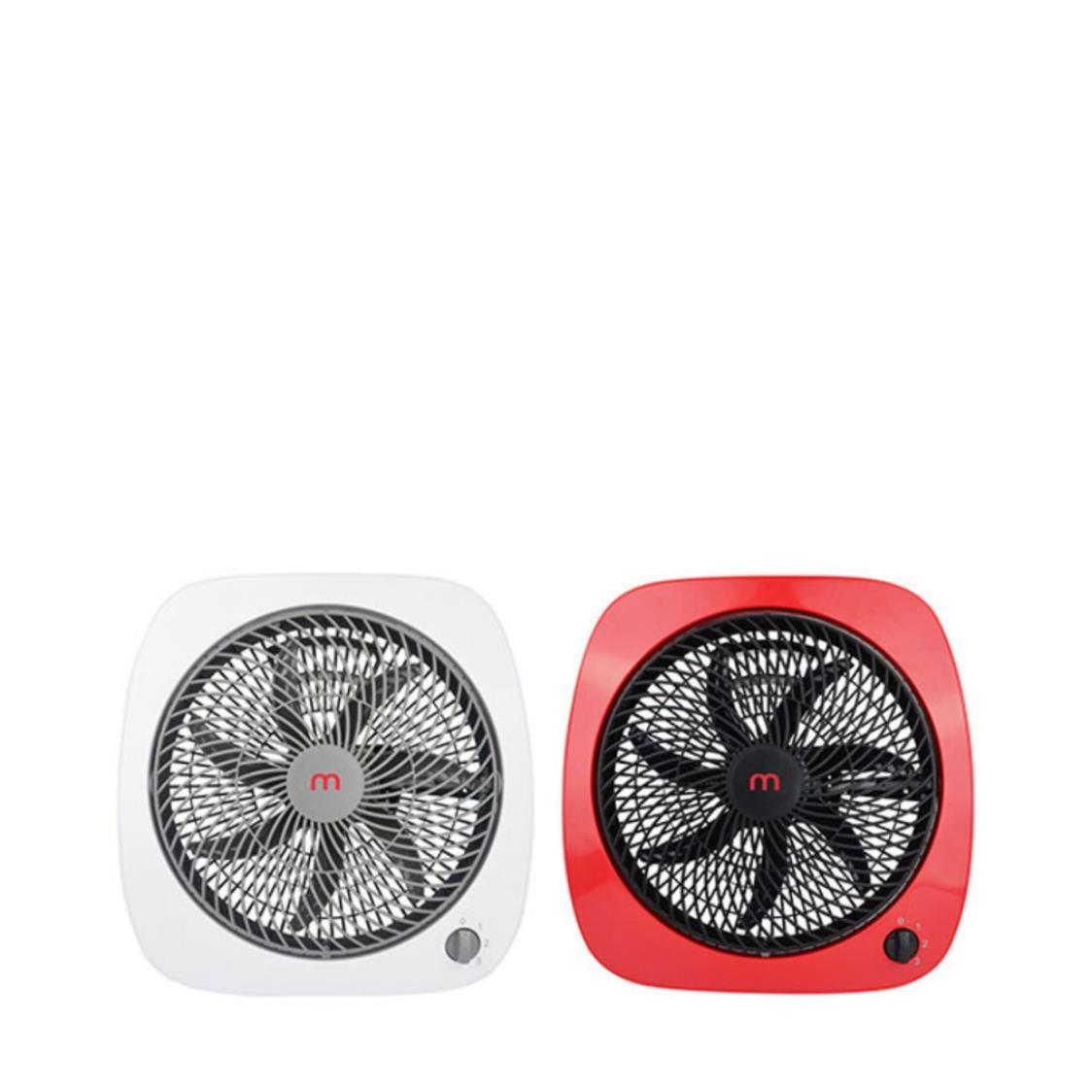 Mistral Box Fan White and Red Bundle