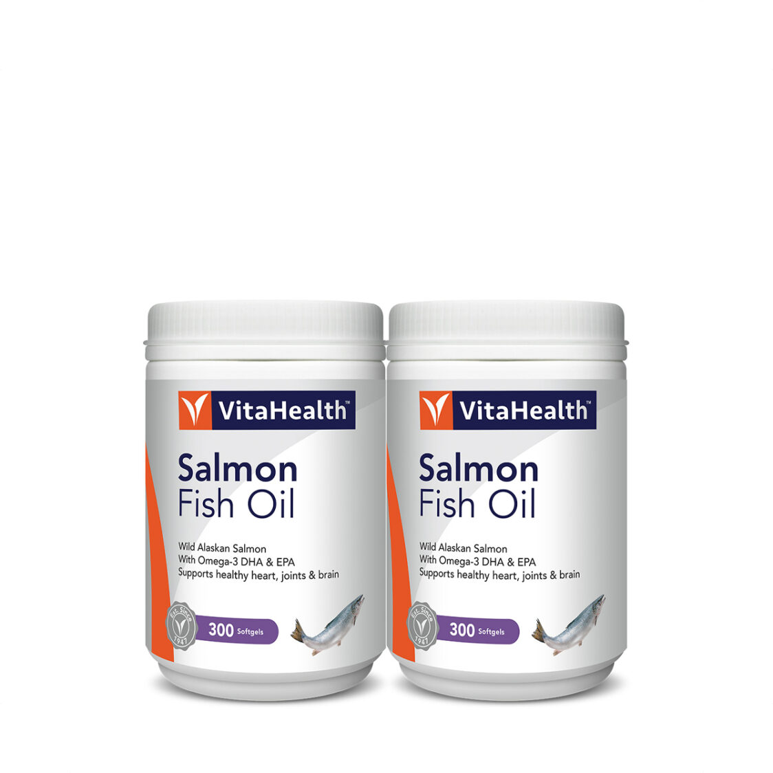 Wild Alaskan Salmon Oil 2x300Softgels