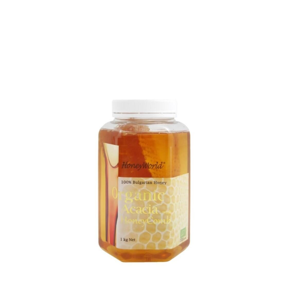 Bulgarian Honeycomb in Organic Acacia Honey 1kg