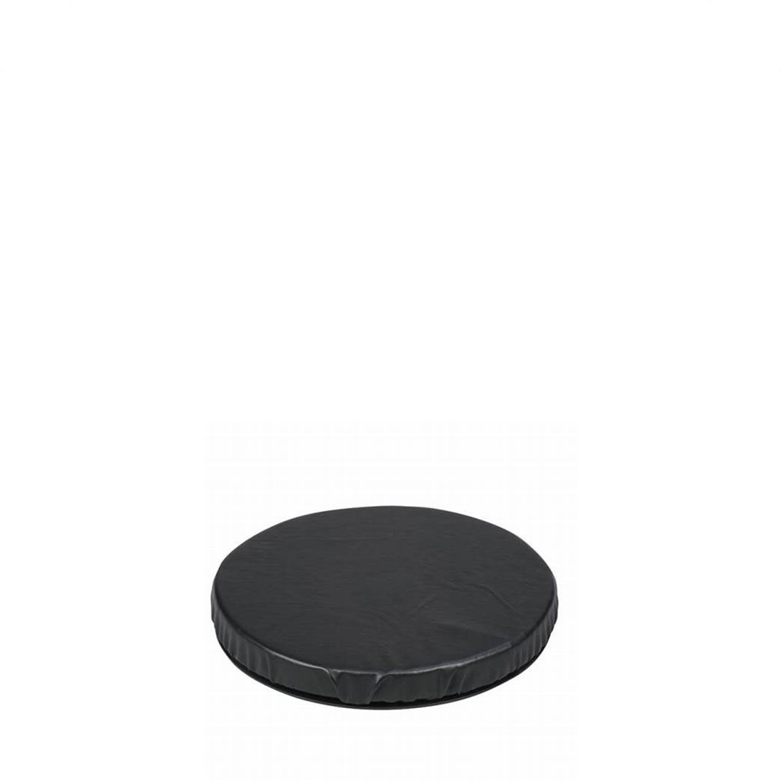 Swivel Seat Cushion Leather Black
