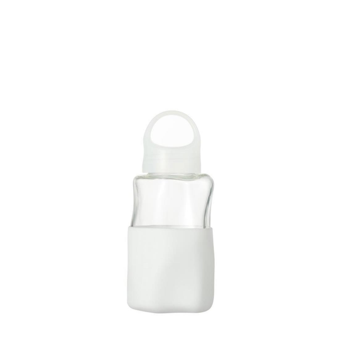 Crater Glass Water Bottle White 320ml