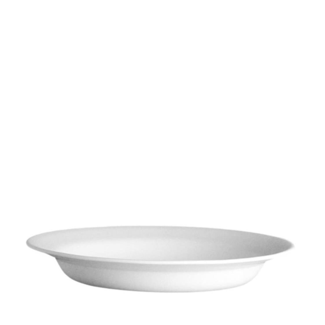 Rim Soup Plate Winter Frost White