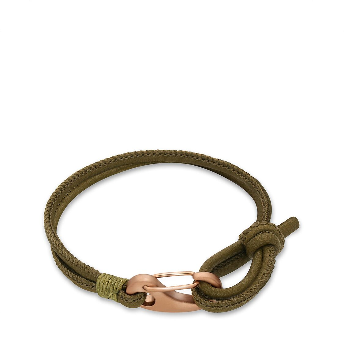 Ron Bracelet  Olive Leather