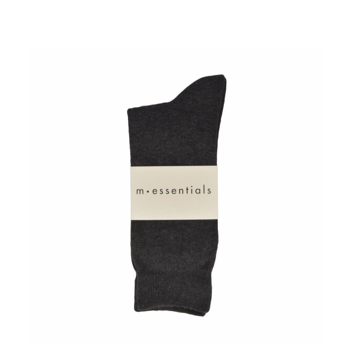 Mens Plain Cotton Socks In Dark Grey