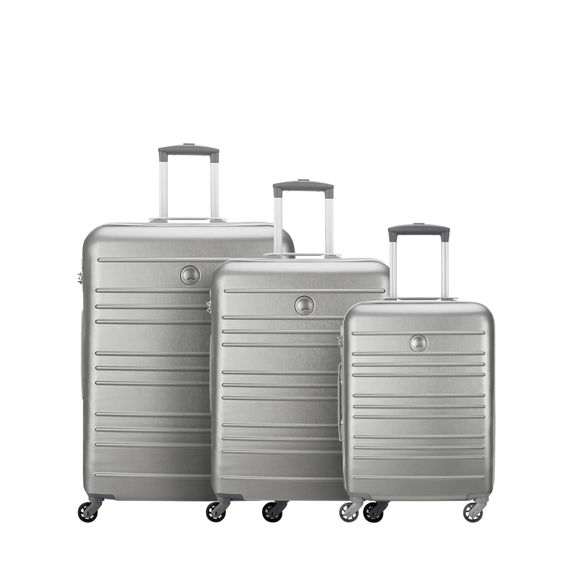 Carlit 4-Wheel Expandable Trolley Case Brushed Silver