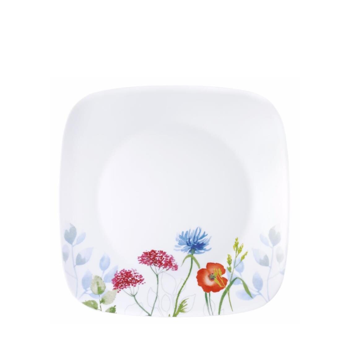 Square Round Dinner Plate Daisy Field