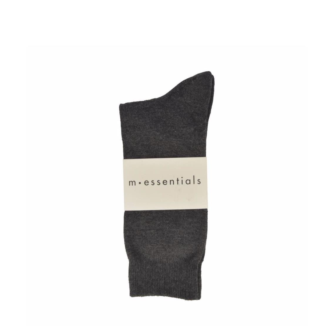 Mens Socks Mid In Grey