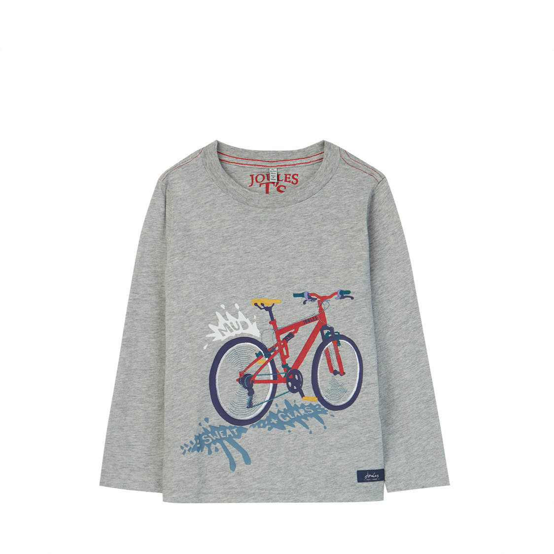 Jack Applique T-Shirt Grey Sweat And Gears 4-10 Years