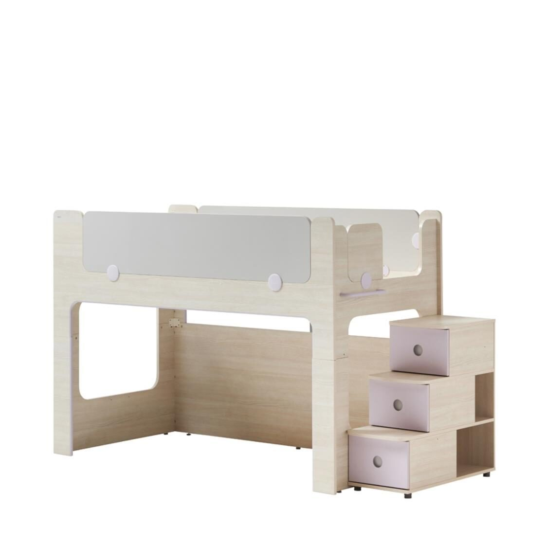 Cabin Bunk Bed Stairs Cabinet OSLU Olmless Ruster Light Purple