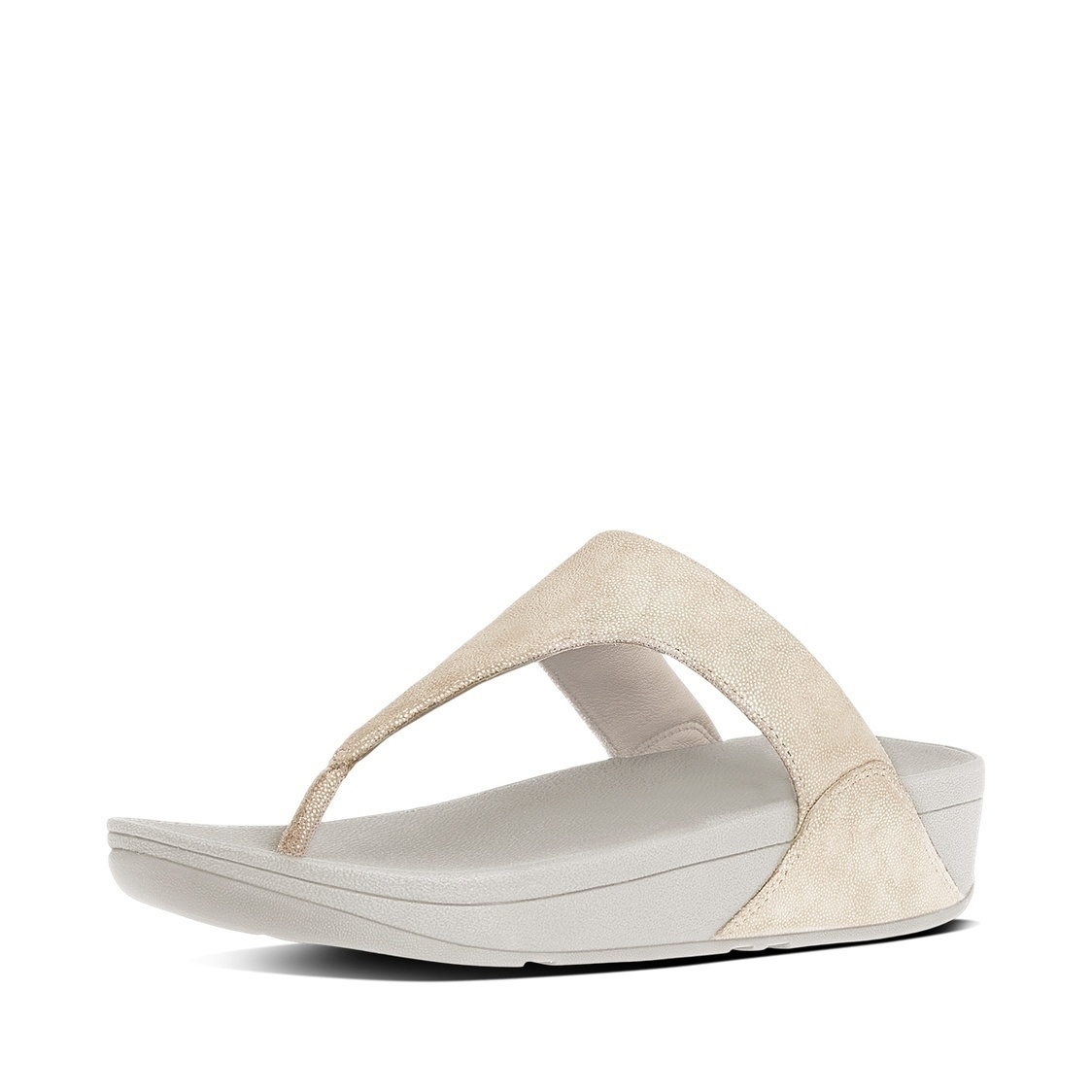 Shimmy Suede Toe-Thong Sandals