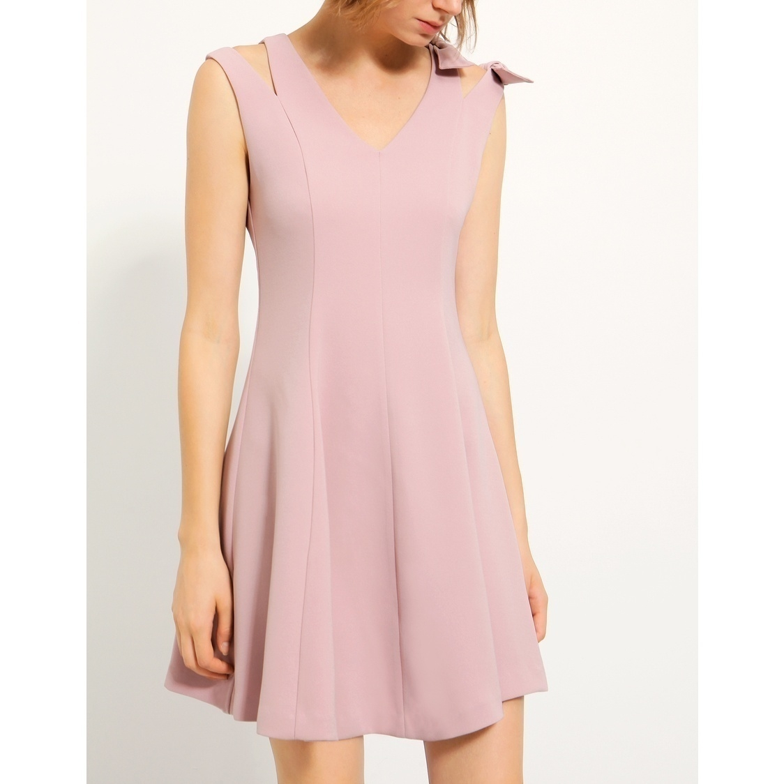 Aline Short Dress With Bow
