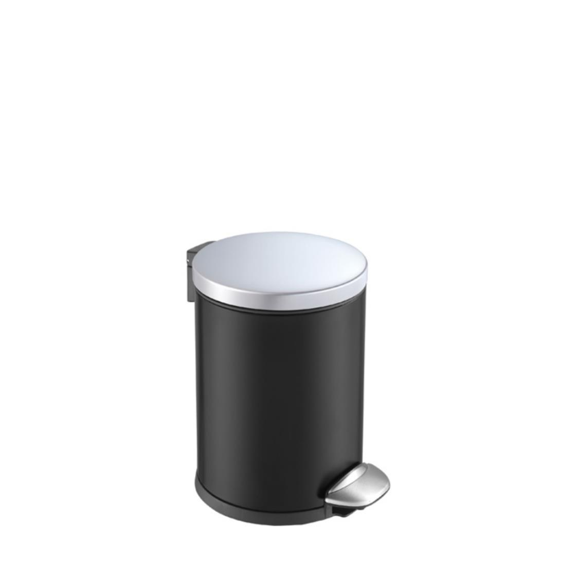 Step Bin With Soft Closing Lid Black
