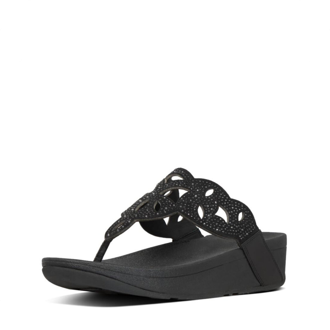 Fitflop Elora Crystal Toe-Thongs All Black