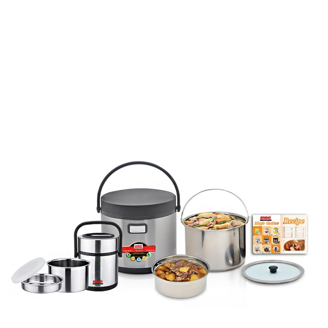 Endo 5L Thermal Magic Cooker  15L Double Stainless Steel Thermal Food Jar