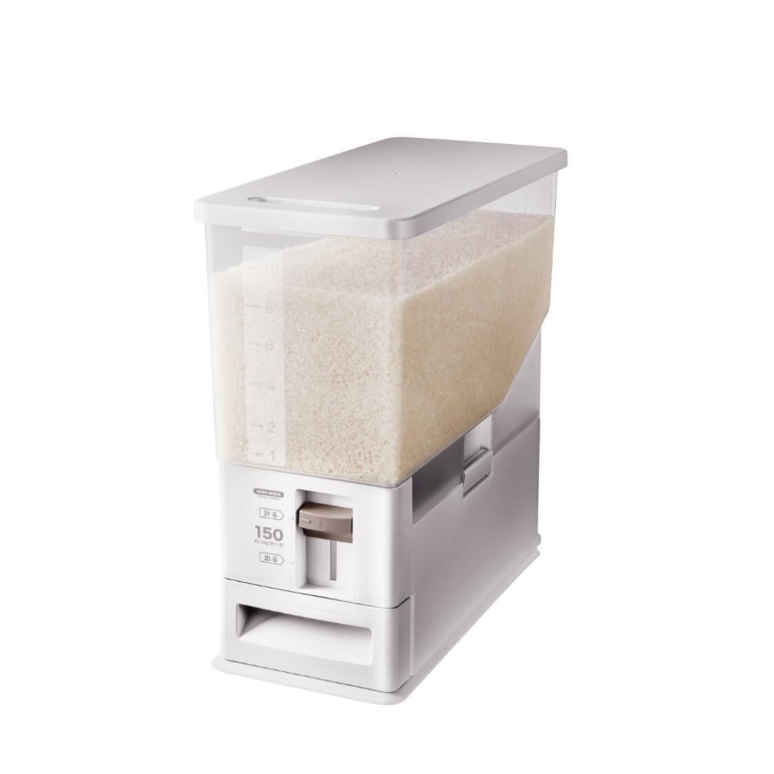 Unix Ware Rice Stocker White 12kg 7503