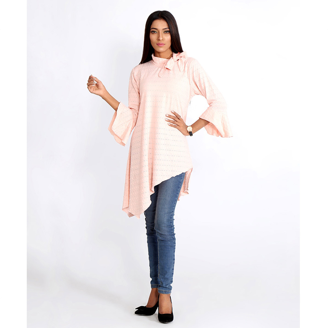Light Pink Asymmetrical Top