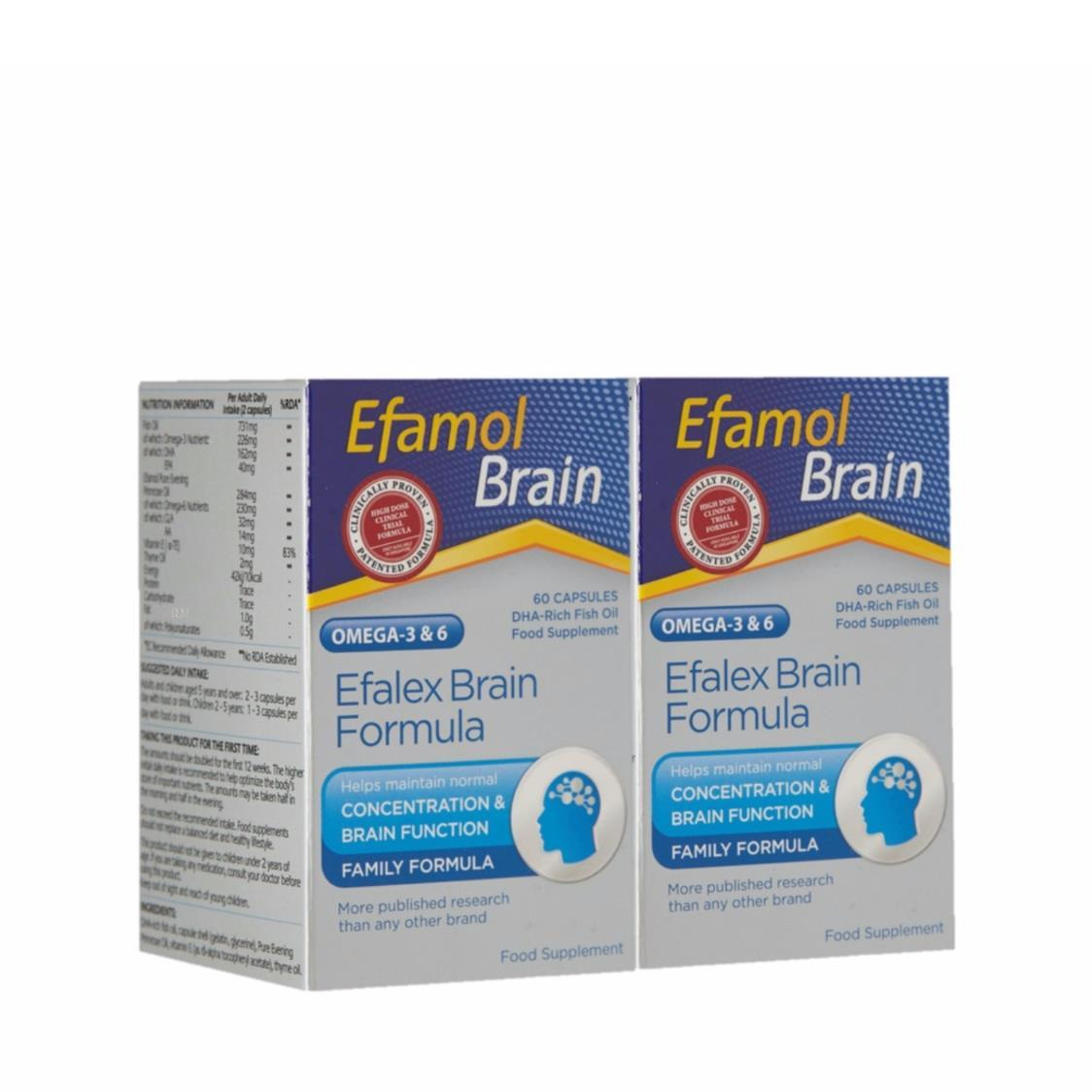 Efalex Brain Twin Pack 2X60s